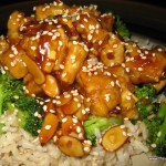 Broccoli Almond Sweet and Sour Tofu