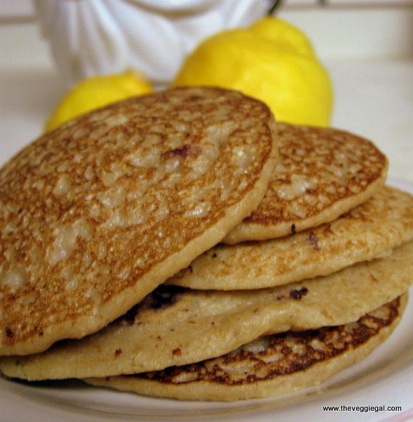 Vanilla Lemon Oatmeal Pancakes