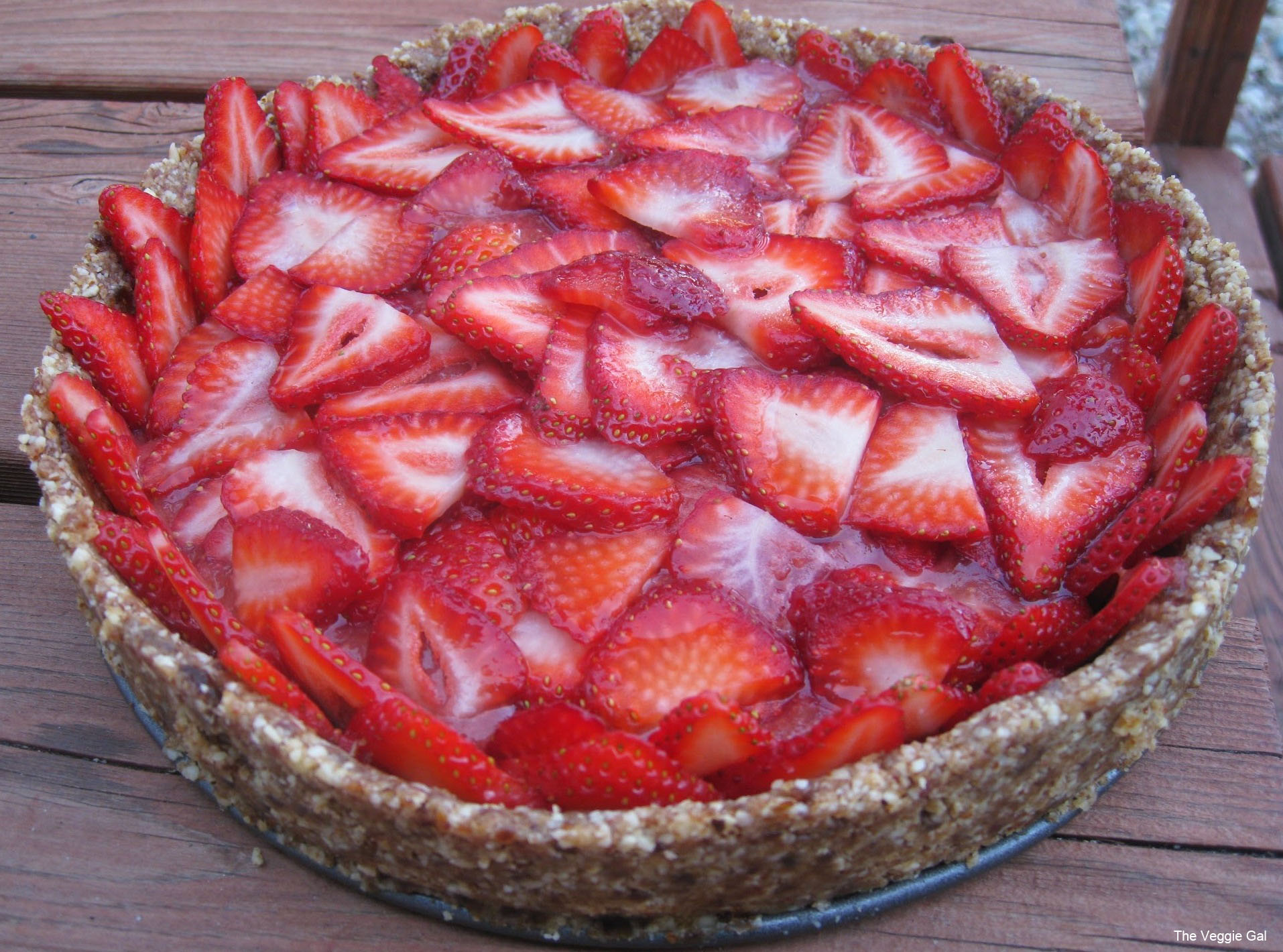 Image result for raw strawberry pie
