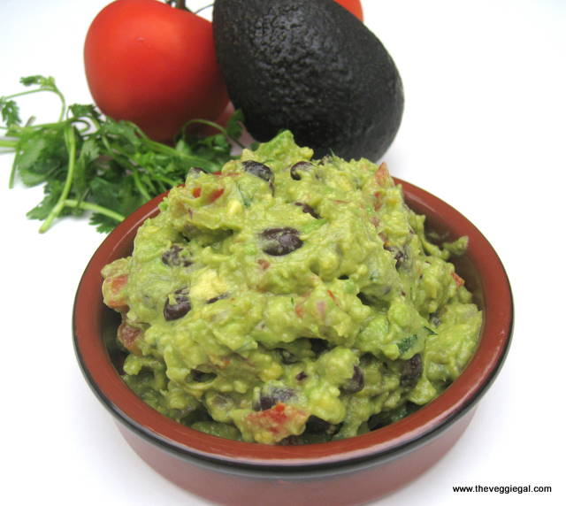 vegan Black Bean Guacamole, low fat guacomole