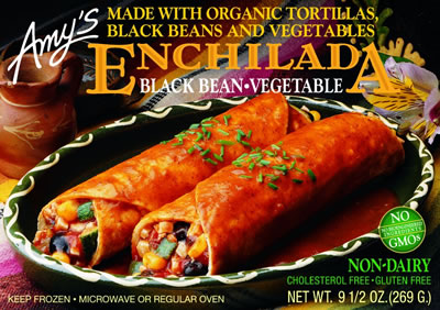 Fattening Friday-Product Review-Amy's Black Bean-Vegetable Enchiladas