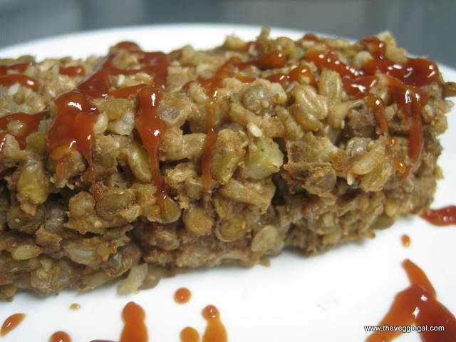 chewy lentil loaf
