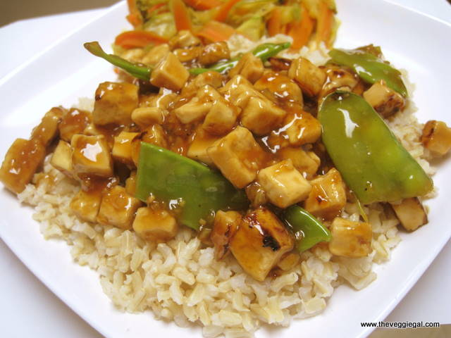 Orange Tofu over Rice