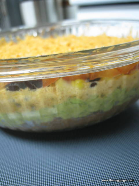 vegan 7 layer Mexican dip