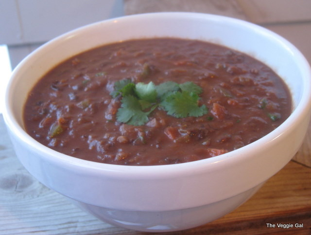 Cocoa-infused Black Bean Soup