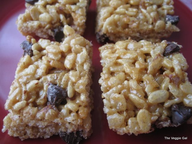 Vegan PB Rice Crispy Treats by Alicia Silverstone, The Kind Diet