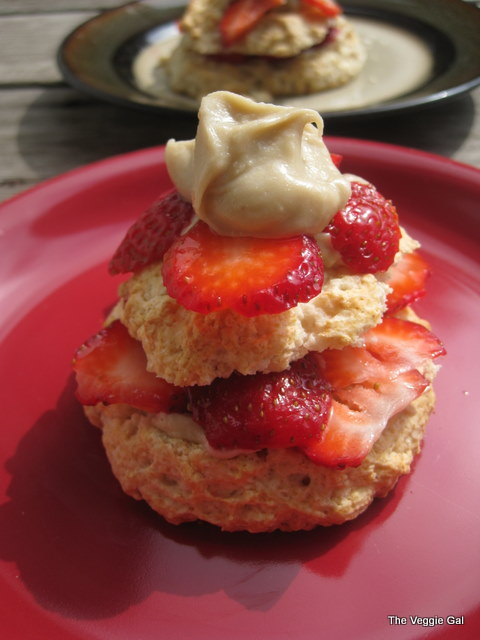 Strawberry Shortcake with Cashew Cream
