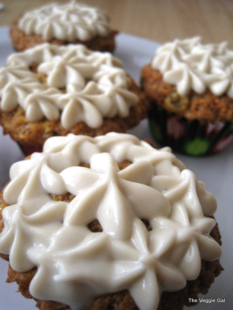 Carrot Cake Muffins with Cashew Cream Topping