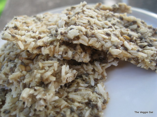 Coconut-Golden Flax Crackers