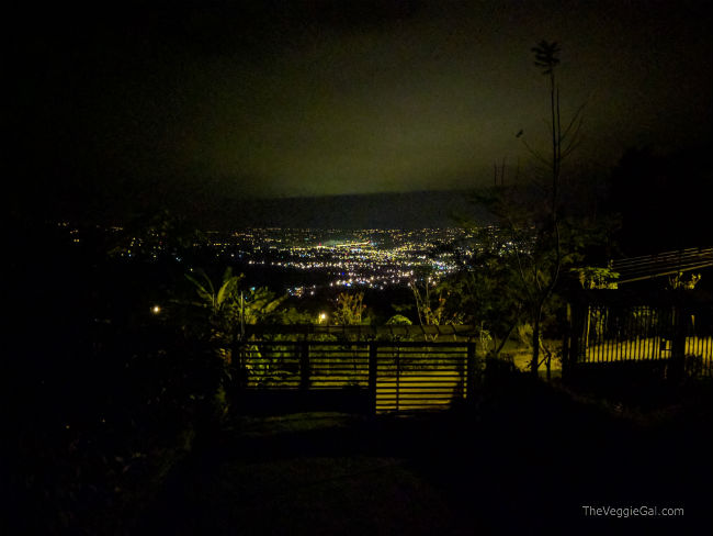 City lights of San Isidro Costa Rica
