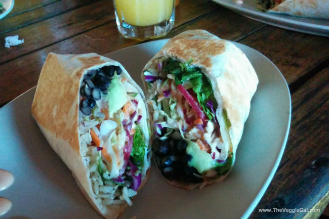Vegan Burrito at Cafe Mono Congo, Dominical, Costa Rica