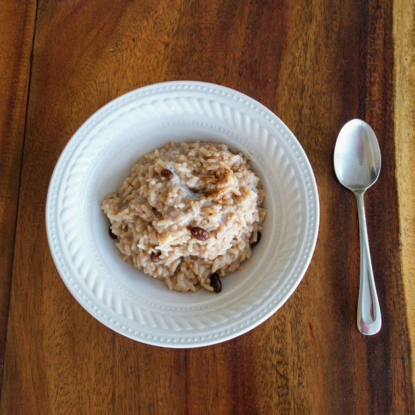 Vegan Rice Pudding, gluten free, refined sugar free, oil free, wfpb