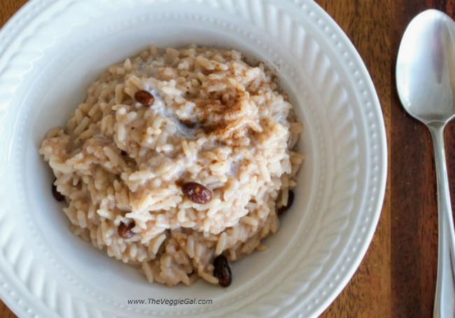 oil free, gluten free vegan rice pudding