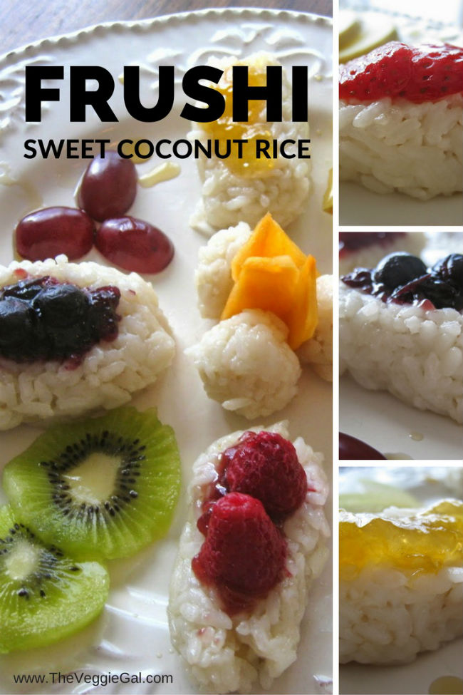 Frushi, coconut rice with fruit