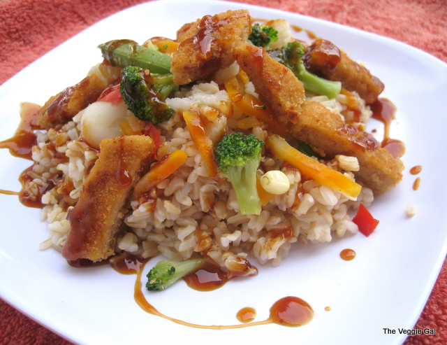 Teriyaki Chik'n with Rice & Vegetables