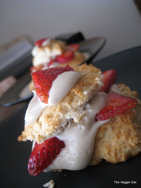 Strawberry Short Biscuit with Cashew Cream