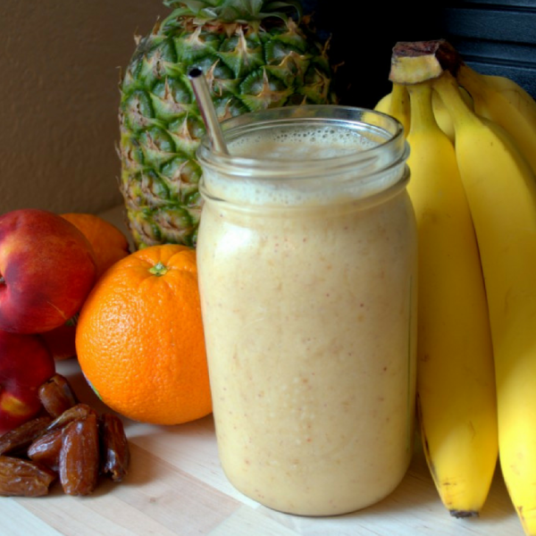 Super Simple Sunshine Smoothie, vegan and low fat