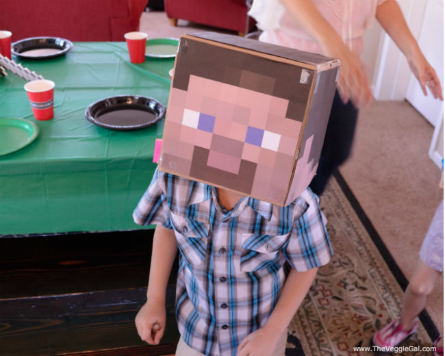 Minecraft Birthday Party Minecraft Steve box mask